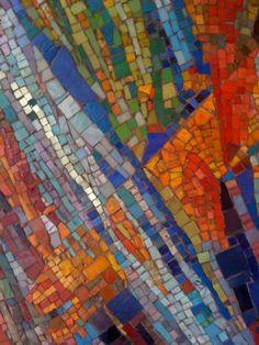 1950's glass mosaic / Monte Napoleone neighborhood / Milan, Italy