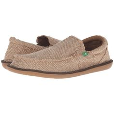 Sanuk Chibalicious (Natural Hemp) Men's Slip-on Dress Shoes ($65) ❤ liked on Polyvore featuring men's fashion, men's shoes, mens hemp shoes, mens dress loafers shoes, mens dress shoes, sanuk mens shoes and mens slip on shoes