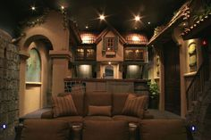 Caribbean Village Theater Room | Bob Simmons Design | 2007 St.George Parade of Homes