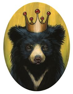 Kelly Vivanco - Art. If someone could draw something similar to this for me as a adult bear without the crown for a tattoo I would definitely get this done
