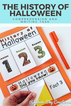 Looking for a fun literacy activity for the next few days? Our Halloween freebie is fun and FREE Comprehension, interactive writing task. Daily 5 Activities, Holiday Activities, Literacy Activities, Interactive Activities, Halloween Activities, School Resources, Learning Resources, Teaching Ideas, Teaching Materials