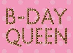 Verjaardagskaart vrouw - b-day-queen