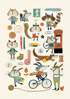 everybody likes nice post Art Print by Kate Hindley
