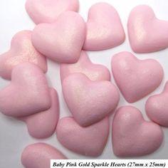 Baby pink hearts  with a golden gleam. #JustAddCake for #Valentines. - - - - #sugarcraft #sugarart #hearts #pink #red #cupcakes #cakes #weddingcake #weddingideas #womeninbusiness #shopsmall #ebay