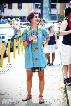 Retrospectiva 2012: carnaval! De Frida no bloquinho.