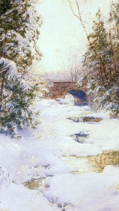The Brook in Winter by Walter Launt Palmer | Art Posters & Prints
