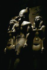 Triad statue of pharaoh Menkaura, accompanied by the goddess Hathor (on his right) and the personification of the nome of Diospolis Parva (on his left). Goddess Art, Egyptian Goddess, Egypt Culture, African Proverb, Egypt Travel, Giza, Luxor, Ancient Egypt, Fine Art America
