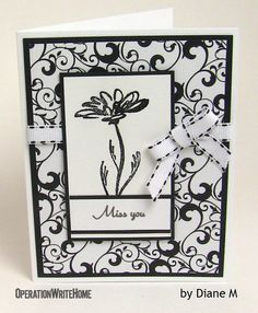 Classic black and white card