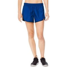 Hanes Sport Women's Performance Woven Running Shorts with Built in Liner, Size: Large, Black