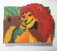 The Lion King perler beads by pixelperlfect