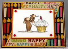 Hello,  I made this card for House-Mouse's birthday celebration using their adorable 'make a Wish' mousie image and Sketch SC350 by Roxie.  Thanks for the fun sketch Roxie!  Happy Birthday House-Mouse!  And thank you all for taking the time to look at my card.