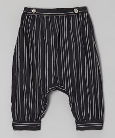 Love this Black Italian Linen Harem Capri Pant - Infant, Toddler & Girls by Right Bank Babies on #zulily! #zulilyfinds
