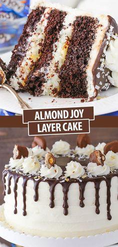 Coconut Desserts, Coconut Recipes, Coconut Frosting, Just Desserts, Baking Recipes, Delicious Desserts, Recipe For Coconut Cake, Almond Filling Recipe, Raspberry Frosting
