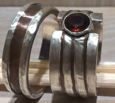 Silber smithing handcrafted wedding bands Rings for couples