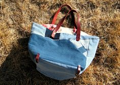 Ecofriendly Recycled Denim and Leather Tote Recycled by Zakken, $95.00