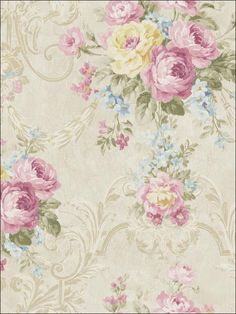 wallpaperstogo.com WTG-116450 Seabrook Designs Traditional Wallpaper