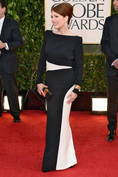 Julianne Moore called up pal Tom Ford for this custom Golden Globes 2013 dress