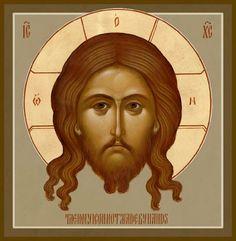 "Christ, ""The Holy Napkin"" - Damascene Gallery Icon and Church Supply Religious Icons, Religious Art, Dark Art Illustrations, Illustration Art, History Icon, Images Of Christ, Face Icon, Byzantine Icons, Catholic Art"