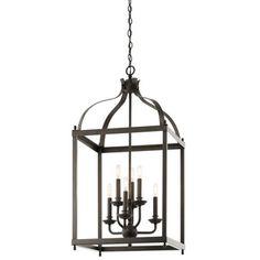 1STOPlighting.com | Larkin - Six Light Cage Foyer