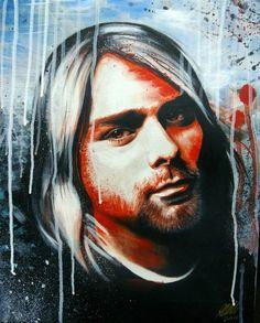 Beautiful art of Kurt Kurt Cobain Art, Free Invitation Cards, Colour Schemes, New Pictures, New Image, Artsy, Nirvana, Fictional Characters, Template
