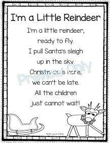 Daughters and Kindergarten: 5 Christmas Poems for Kids Kindergarten Songs, Preschool Songs, Kids Songs, Preschool Christmas, Christmas Activities, Reindeer Christmas, Christmas Songs For Kids, Christmas Nursery Rhymes, Christmas Lights