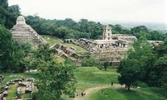 An archological site at the edge of the Maya empire.