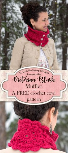 Follow this free, Victorian inspired, crochet muffler pattern to create a beautiful cowl, with buttons, for women! It's quick to crochet, and the lace details provide just the right amount of texture. This is one DIY craft project that will be sure to del