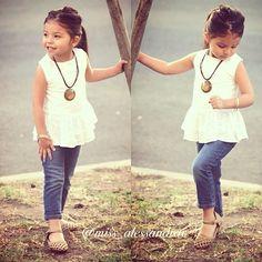 Follow Sofia on Instagram @TheSofiaFashionista Spring / Summer outfit for little girls. Kids Fashion. #ootd #SofiaFashionista