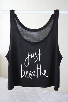 Flowy Crop Top Just Breath Tank Yoga Tank Flowy by ArimaDesigns
