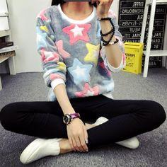 Nova 2015 mulheres com capuz primavera outono camisolas Hoodies impressão bonito manga comprida Moleton feminino tamanho grande EPHO80045