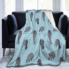 Alpaca Blanket, Heated Blanket, Cooling Blanket, Faux Fur Blanket, Sofa Blanket, Blankets For Winter, Flannel, Bed Couch, Manatees