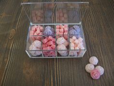 125 sugar cubes, (24 rose sugar cubes in 2 colors and 100 squares sugar cubes in 3 colors), sugar bowl, baby shower, wedding, bridal shower, by ChiaraSweetArt on Etsy