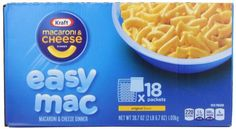 Kraft Easy Mac Original Macaroni and Cheese Dinner 18 Microwaveable Single Serve Packs, 2016 Amazon Most Gifted Packaged Meals & Side Dishes  #Grocery