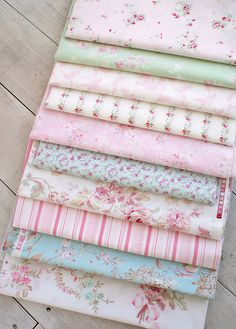 Luv the colors in the material  #Shabby # Chic - materials beautiful colours http://www.whitepetalsandpearls.com
