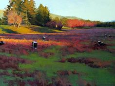 First Light, Susan Ogilvie, pastel: It's going to be a beautiful day! Note by Roger Carrier