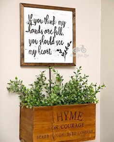 Hey, I found this really awesome Etsy listing at https://www.etsy.com/listing/256065131/inspirational-sign-if-you-think-my-hands