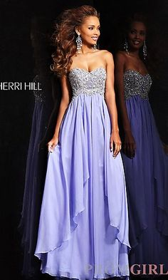 Prom Dresses, Celebrity Dresses, Sexy Evening Gowns at PromGirl: Full Length Strapless Sweetheart Gown