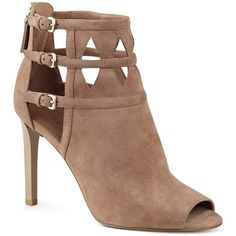 Nine West Women's Laulani Suede Boot ($56) ❤ liked on Polyvore featuring shoes, boots, suede boots, nine west, suede shoes, nine west shoes and suede leather shoes