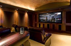 Gentleman's Pub - traditional - media room - portland - by Garrison Hullinger Interior Design Inc.