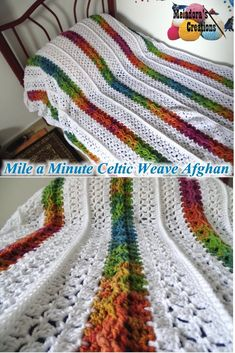 Mile a Minute Celtic Weave Afghan – Free Crochet Pattern and Video Tutorials for both Right and Left Handed - by Meladora's Creations ༺✿ƬⱤღ  http://www.pinterest.com/teretegui/✿༻