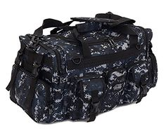 This duffel bag is ideal for military tactical assault gear cargo hiking camping hunting sports and gym. It is constructed of high density polyester that provides durability and longevity under ...