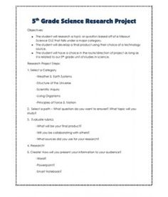 Teaching Kids to Write Science Research Papers