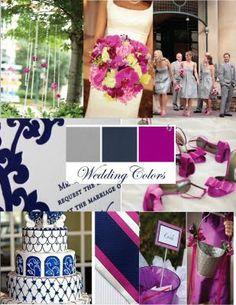 Wedding Colors: Grey, Navy, & Orchid Purple