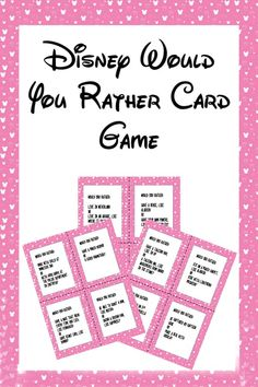 These printable Disney themed Would You Rather questions for kids make a fun family game to play during dinner, a road trip, or a classroom icebreaker. Disney Activities, Icebreaker Activities, Activities For Kids, Disney Themed Games, Disney Games For Kids, Virtual Games For Kids, Group Activities, Printable Games For Kids, Free Printable