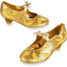 Not a glass slipper but oh so pretty - Belle Deluxe Costume Shoes for Kids - Live Action Film Kid Shoes, Girls Shoes, Disney Fancy Dress, Classic Halloween Costumes, Live Action Film, Disney Beauty And The Beast, Glass Slipper, Costume Accessories, Walt Disney World