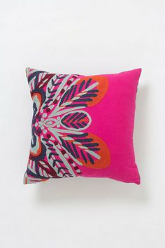 in true Anthropologie spirit, this pillow is wicked expensive. it is, however, very bright n' perdy. Bianca Pillow -- $98