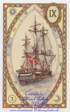 Das Schiff - Die Einzelbedeutung Lenormandkarten  Lenormand