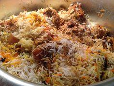Achi Gori Bivi: Chicken Biryani (Flavorful Rice & Chicken dish) How To, Pakistani, Indian food, recipe, main dish, chicken, rice, raita, instructions