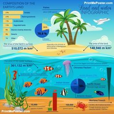 Underwater World Island Infographic poster #poster, #printmeposter, #mousepad, #tshirt