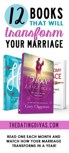 Our Favorite MUST READ Marriage Books – The Dating Divas Top 12 Marriage Books! Read one every month and watch how your marriage transforms in a year. Healthy Marriage, Strong Marriage, Marriage And Family, Marriage Tips, Happy Marriage, Love And Marriage, Healthy Relationships, Books On Marriage, Biblical Marriage